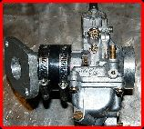 ClassicTrial picture,  Classictrial TM24 Mikuni with TLR manifold, click to enlarge, click pop-up to close.