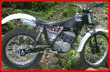 ClassicTrial picture,  Steve Martin's finished 340 Fantic, click to enlarge click pop-up to close.