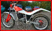 ClassicTrial picture,  205 Fantic before conversion to twin-shock., click to enlarge click pop-up to close.
